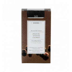 Korres Argan Oil Advanced Colorant Βαφή Μαλλιών 3.0 Καστανό Σκούρο 50ml