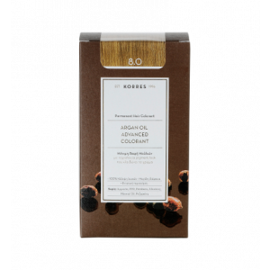 Korres Argan Oil Advanced Colorant Βαφή Μαλλιών 8.0 Ξανθό Ανοικτό 50 ml