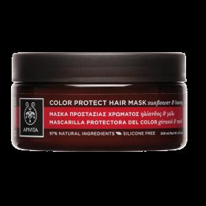 Apivita Color Protect Hair Mask Μάσκα Προστασίας Χρώματος Για Βαμμένα Μαλλιά Με Ηλίανθο & Μέλι 200ml