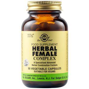Solgar Herbal Female Complex Sfp Συμπλήρωμα Διατροφής Με Βότανα Για Την Αντιμετώπιση Της Προεμμηνορυσίας Και Της Εμμηνόπαυσης 50 Φυτικές Κάψουλες