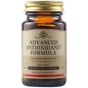 Solgar Advanced Antioxidant Formula Φόρμουλα Με Αντιοξειδωτική Δράση Κατά Των Ελευθέρων Ριζών 30 Φυτικές Κάψουλες