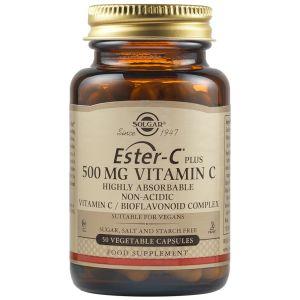 Solgar Ester-C 500Mg Vitamin C Vegetable Caps 50 Tabs