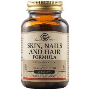 Solgar Skin Nails & Hair Ολοκληρωμένη Φόρμουλα Για Δέρμα Νύχια & Μαλλιά 60tabs