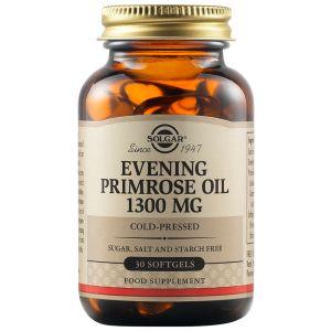 Solgar Evening Primrose Oil 1300Mg  Συμπλήρωμα Διατροφής Με Λάδι Νυχτολούλουδου Για Την Ομαλή Λειτουργία Του Καρδιαγγειακού, Νευρικού & Αναπαραγωγικού Συστήματος 30 Μαλακές Κάψουλες