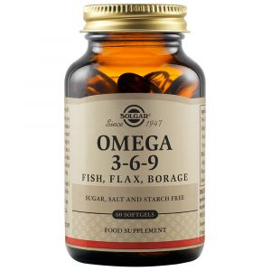 Solgar Omega 3-6-9 Συμπλήρωμα Διατροφής Με Λιπαρά Οξέα Για Την Καλή Λειτουργία Της Καρδιάς, Του Εγκεφάλου Και Των Ματιών 60 Μαλακές Κάψουλες