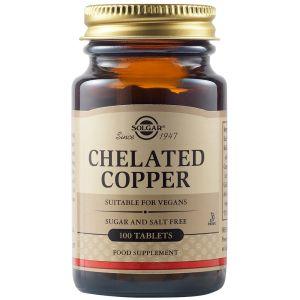 Solgar Chelated Copper 2,5mg Συμπλήρωμα Διατροφής Με Χαλκό Για Την Ομαλή Λειτουργία Του Νευρικού Συστήματος 100 Φυτικές Ταμπλέτες
