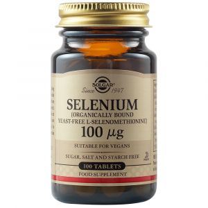Solgar Selenium 100μg Αντιοξειδωτικό Συμπλήρωμα Διατροφής Με Σελήνιο Για Την Ενίσχυση Του Ανοσοποιητικού 50 Φυτικές Ταμπλέτες