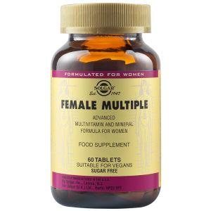 Solgar Female Multiple Πολυβιταμίνη Πολυφόρμουλα Για Τις Ανάγκες Της Σύγχρονης Γυναίκας 60 Φυτικές Ταμπλέτες