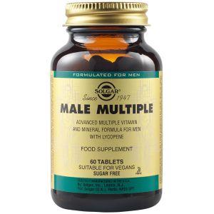 Solgar Male Multiple Φόρμουλα Με Ψευδάργυρο & Λυκοπένιο Για Την Υγεία Του Προστάτη 60 Φυτικές Ταμπλέτες
