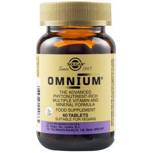 Solgar Omnium Multiple Φόρμουλα Για Την Επίτευξη Και Διατήρηση Της Ιδανικής Υγείας 60 Φυτικές Ταμπλέτες