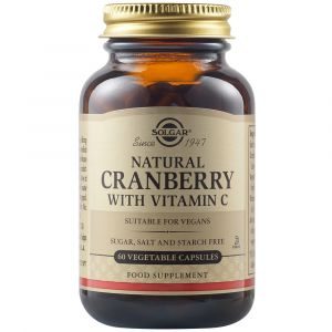 Solgar Cranberry Extract & Vitamin C Συμπλήρωμα Διατροφής Με Εκχύλισμα Κράνμπερι & Βιταμίνη C Για Την Προστασία Του Ουροποιητικού Συστήματος 60 Φυτικές Κάψουλες
