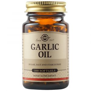 Solgar Garlic Oil Συμπλήρωμα Διατροφής Με Λάδι Από Σκόρδο Για Μείωση Της Υψηλής Πίεσης 100 Φυτικές Κάψουλες