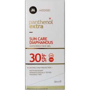 Medisei Panthenol Extra Sun Care Spf30 Diaphanous Face Gel Διαφανη Αντιηλιακη Κρεμα-Gel Προσωπου 50ml