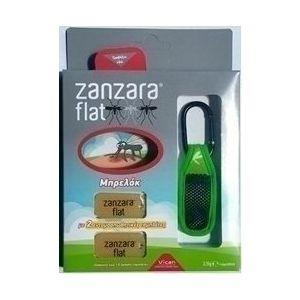 Vican Zanzara Flat Εντομοαπωθητικο Μπρελοκ Σε Πρασινο Χρωμα & 2 Ανταλλακτικες Εντομοαπωθητικες Ταμπλετες