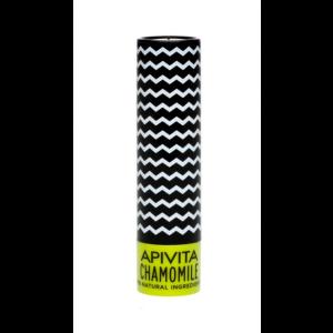 Apivita Lip Care Chamomile Spf15 Balm Χειλιών Με Χαμομήλι 4,4 Gr
