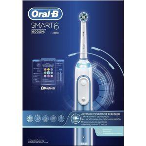 Oral-B Smart 6 6000N Cross Action Επαναφορτιζόμενη Ηλεκτρική Οδοντόβουρτσα 1Τμχ