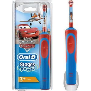 Oral-B Stages Power Επαναφορτιζομενη Οδοντοβουρτσα Vitality Kids Cars 3+ Ετων 1 Τμχ