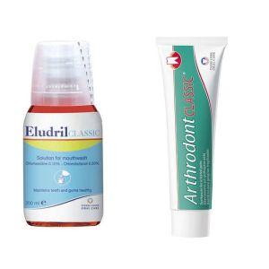 Eludril Classic Στοματικο Διαλυμα 200 ml+Δωρο Arthrodont Οδοντοκρεμα 25 ml