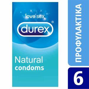 Durex Natural Προφυλακτικά 6 Τεμ