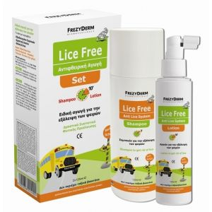Frezyderm Lice Free Set Αντιφθειρική Αγωγή Σαμπουάν & Λοσιόν 2x125ml