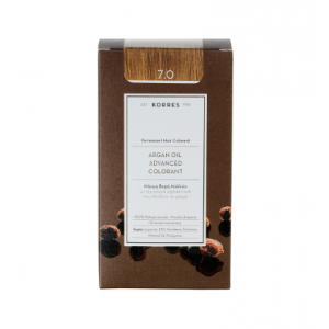 Korres Argan Oil Advanced Colorant Βαφή Μαλλιών 7.0 Ξανθό 50ml