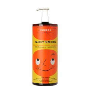 Korres Family Big Size Hug Shower Gel Παιδικό Αφρόλουτρο Κατάλληλο Για Όλη Την Οικογένεια 1Lt