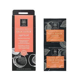 Apivita Express Beauty Scrub Mε Βερύκοκο Για Ήπια Απολέπιση Για Κανονικές - Ξηρές Επιδερμίδες 2X8ml