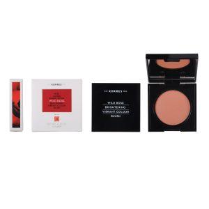 Korres Άγριο Τριαντάφυλλο Ρουζ Για Λάμψη & Ζωηρό Χρώμα 42 Luminous Apricot 5.5gr