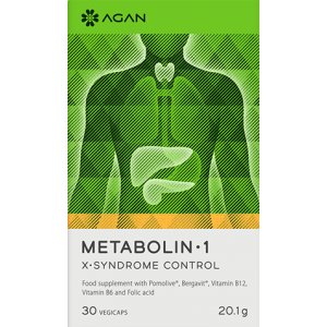 Agan Metabolin 1 Συμπλήρωμα Διατροφής για το μεταβολικό Σύνδρομο 30 Vegicaps