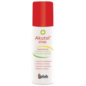 Uplab Akutol Stop Αιμοστατικό που Σταματάει Μικρές Αιμορραγίες & Καταπραΰνει το Τραύμα 60ml