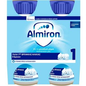 Nutricia Almiron 1 Γάλα 1ης Βρεφικής Ηλικίας Έως 6 Μηνών 4x200ml