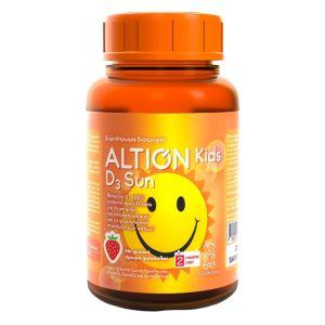 Altion Kids D3 Sun Παιδικό Συμπλήρωμα Διατροφής Με Βιταμίνη D3 Φυσικής Προέλευσης Για Τόνωση Ανοσοποιητικού Και Σωστή Ανάπτυξη Οστών & Δοντιών 60gummies