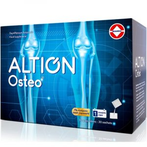 Altion Osteo Συμπλήρωμα Διατροφής Για Τη Φυσιολογική Λειτουργία Του Χόνδρου Των Αρθρώσεων Με Γεύση Πορτοκάλι 30 φακελάκια
