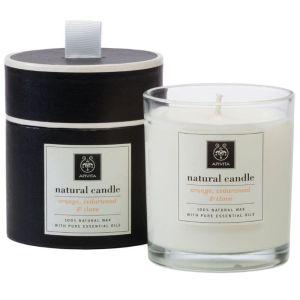 Apivita 100% Φυσικό Αρωματικό Κερί Με Πορτοκάλι & Κερί Μελισσών 235gr