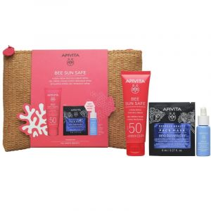 Apivita Πακέτο Set Bee Sun Safe Hydra Fresh Face Gel Cream Σετ Ενυδατική Κρέμα Τζελ Προσώπου SPF50 50ml & Δώρο Aqua Beelicious Booster Αναζωογόνησης 10ml & Express Beauty Μάσκα Προσώπου 2x8ml