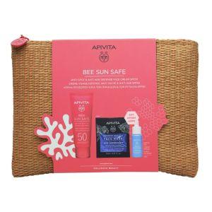 Apivita Πακέτο Promo Set Bee Sun Safe Σετ Anti-spot & Anti-age Κρέμα Προσώπου Κατά Των Πανάδων SPF50 50ml & Δώρο Aqua Beelicious Booster Ενυδάτωσης 10ml& Express Beauty Mask Μάσκα Προσώπου Με Θαλάσσια Λεβάντα 2x8ml