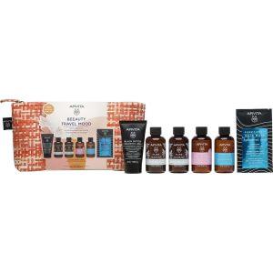 Apivita Beauty Travel Mood Essentials Συλλεκτικό Τσαντάκι Με Τα Απαραίτητα Προϊόντα σε Travel Size