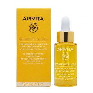 Apivita Beessential Oils Έλαιο Προσώπου Ημέρας Συμπλήρωμα Ενδυνάμωσης & Ενυδάτωσης 15ml