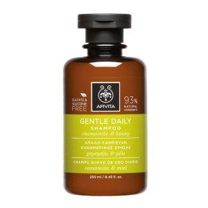 Apivita Gentle Daily Shampoo Απαλό Σαμπουάν Καθημερινής Χρήσης με Χαμομήλι & Μέλι 250ml