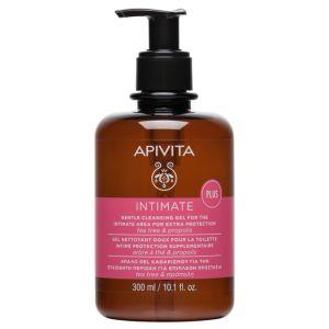 Apivita Intimate Plus Απαλό Gel Καθαρισμού Για Την Ευαίσθητη Περιοχή Με Tea Tree & Πρόπολη 300ml