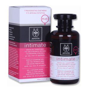 Apivita Intimate Plus Απαλό Gel Καθαρισμού Για Την Ευαίσθητη Περιοχή Για Επιπλέον Προστασία Σε Περιπτώσεις Συχνών Μικροενοχλήσεων Με Tea Tree & Πρόπολη 200ml