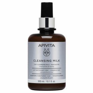 Apivita Limited Edition Cleansing Milk 3 Σε 1 Γαλάκτωμα Καθαρισμού Για Πρόσωπο & Μάτια Με Χαμομήλι & Μέλι 300ml