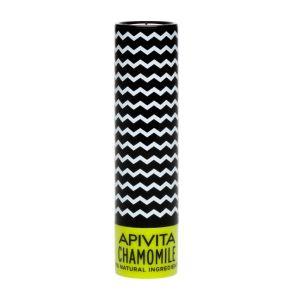 Apivita Lip Care Chamomile Spf15 Balm Χειλιών Με Χαμομήλι 4.4g