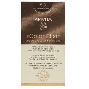 Apivita My Color Elixir Μόνιμη Βαφή Μαλλιών No 8.0 Ξανθό Ανοιχτό 50 ML+75 ML