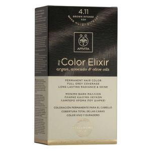 Apivita My Color Elixir Μόνιμη Βαφή Μαλλιών No 4.11 Καστανό Έντονο Σαντρέ 50ml+75ml