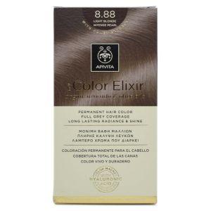 Apivita My Color Elixir Μόνιμη Βαφή Μαλλιών No 8.88 Ξανθό Ανοιχτό Έντονο Περλέ 50 ml+75 ml