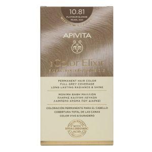Apivita My Color Elixir Μόνιμη Βαφή Μαλλιών No 10.81 Κατάξανθο Περλέ Σαντρέ 50 ml+75 ml