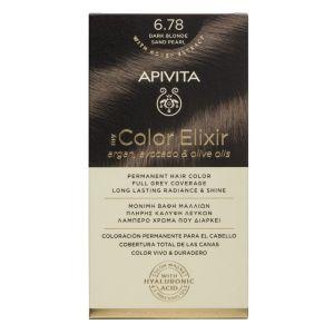 Apivita My Color Elixir Βαφή Μαλλιών 6.78 Ξανθό Σκούρο Μπεζ Περλέ 50ml + 75ml