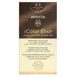 Apivita My Color Elixir Βαφή Μαλλιών Νο 8.3 Ξανθό Aνοιχτό Xρυσό 50ml + 75ml