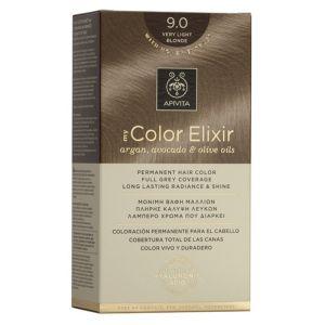 Apivita My Color Elixir Μόνιμη Βαφή Μαλλιών No 9.0 Ξανθό Πολύ Ανοιχτό 50 ML+75 ML